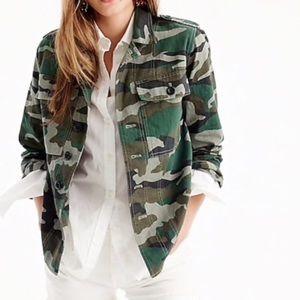 NWT J. Crew Camouflage Utility Shirt Jacket XS